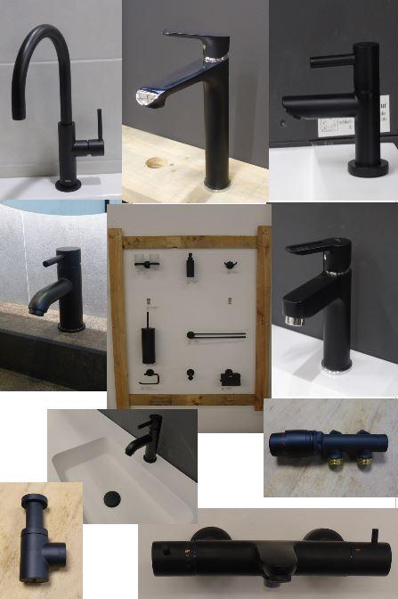 Zwarte badkamer accessoires
